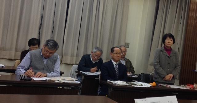 知事選挙に出る決意を話す古田県議