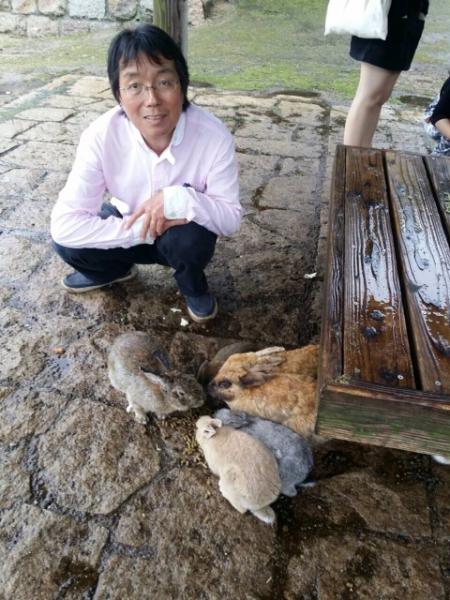 大久野島のウサギたち