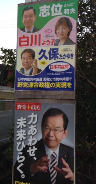 北島町でポスター貼り